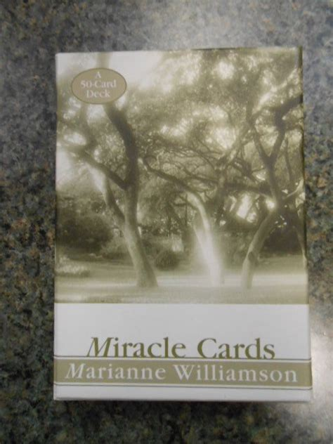 The Miracle Of The Cards Free Miracle Cards 50 Card Deck By Marianne Williamson