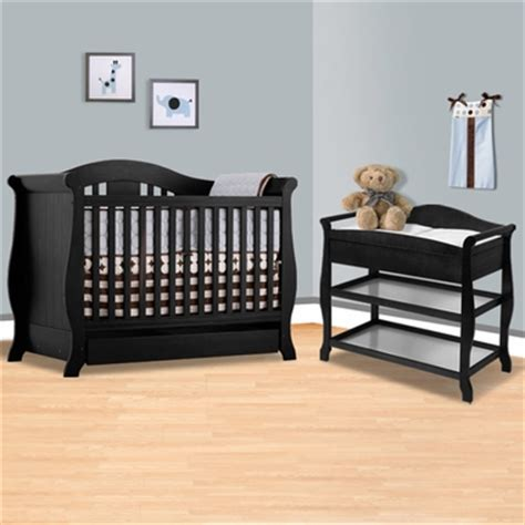Black Baby Changing Table Storkcraft Black Vittoria 3 In 1 Convertible Crib And Aspen Changing Table With Drawer 2