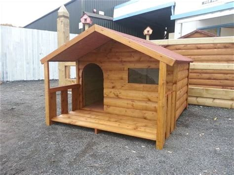 funky dog house large dog cabin and porch funky cribs
