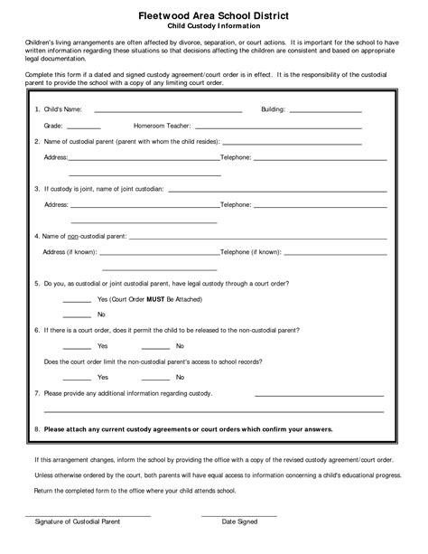 child visitation agreement template best photos of minor guardianship form template free