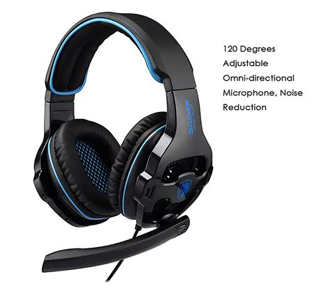 Headset Army Air Bass Stereo Microphone sades sa 810 gaming headphones with mic black and blue