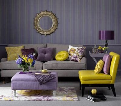 Purple And Gray Home Decor by Matching Interior Design Colors Home Furnishings And
