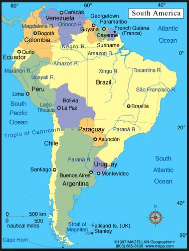 south america map bodies of water 7 continents of the world and the 5 oceans list