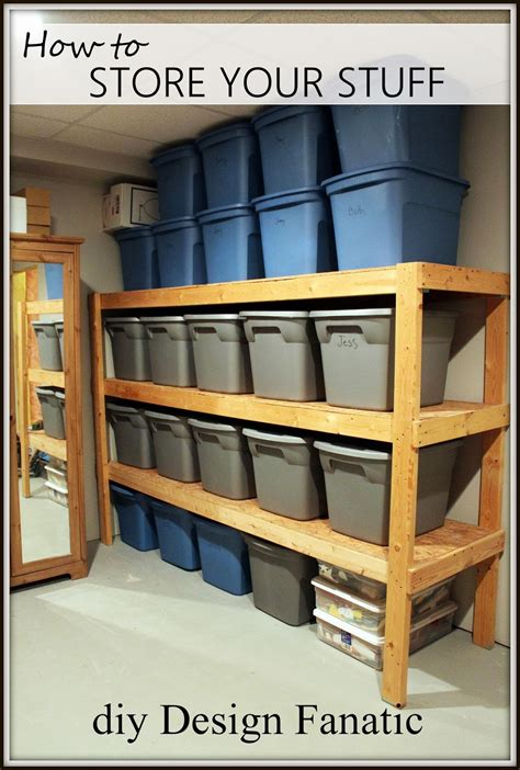pdf diy storage shelf plans basement storage