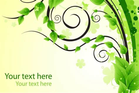 cdr training pattern green floral background vector free 123freevectors