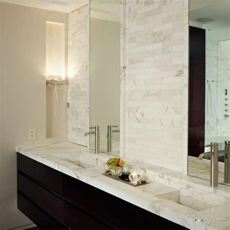 mirrored tile backsplash contemporary bathroom ana floating marble vanity contemporary bathroom