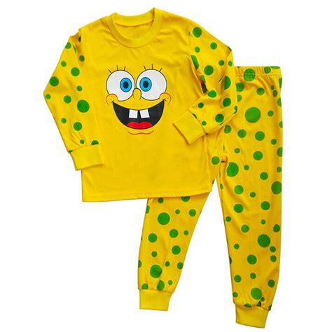 Piyama Sleepwear Character Stln Set Kid Piyama Spongebob popular spongebob pajamas buy cheap spongebob