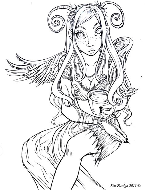 free coloring pages of anime anime fairy