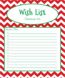 Xmas Wish List Template Stay Fabulous November 2013