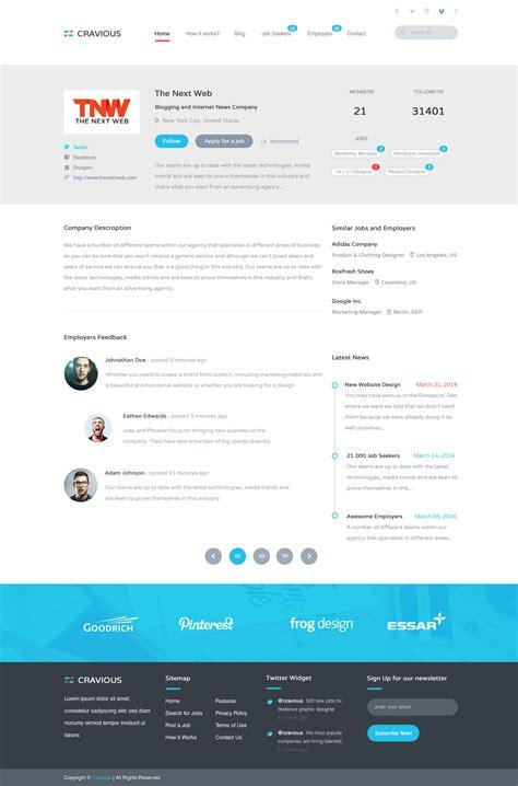 themeforest job portal cravious job portal psd template by kl webmedia