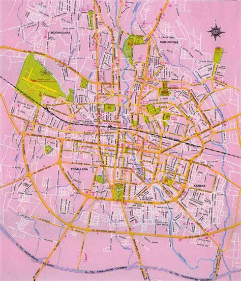 map of bandung city desnantana journey bandung city map