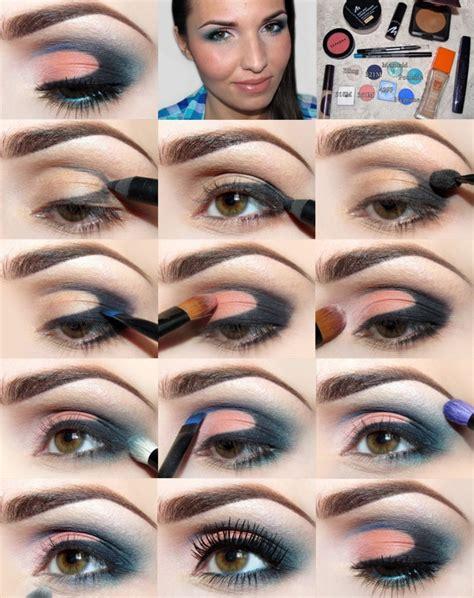 tutorial eyeshadow pencil diy pencil technique coral teal black eyeshadow