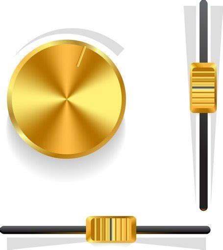 Knob Clipart by Gold Volume Knob 03 Free Vector Clipart Me