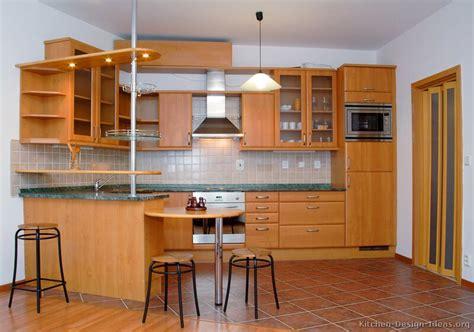Kitchen Peninsula Table Pictures Of Kitchens Modern Medium Wood Kitchen