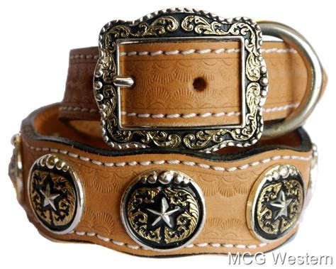 western collars western genuine leather collar w concho