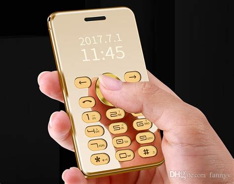 fast new arrival metal gold luxury mobile phone mini