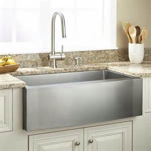 Stainless Steel Farmhouse Kitchen Sinks 33 Quot Optimum Stainless Steel Farmhouse Sink Wave Apron Kitchen