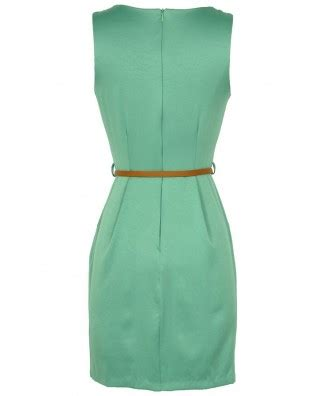 Classic Belted Sheath boutique classic belted sheath dress in