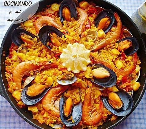 recetas de cocina paella de marisco paella de marisco receta paso a paso