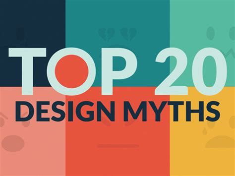 Top 20 Design Myths By Lean Labs Note Point Presentation On Inspiration