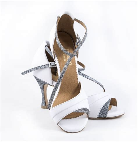 White And Silver Wedding Shoes by White High Heels With Silver Glitter Wedding Silvered