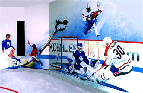 sports wall murals team sports mural painting by hanne lore koehler