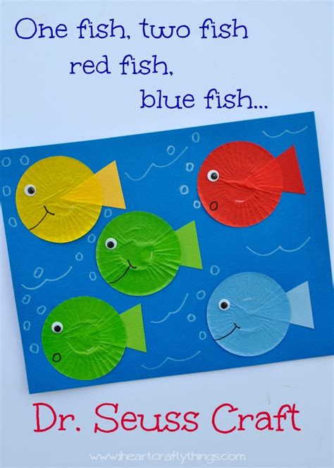 one fish two fish red fish blue fish dr seuss craft i