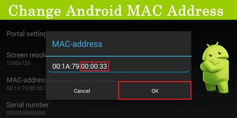 change mac address android how to change wifi mac address on android safe tricks