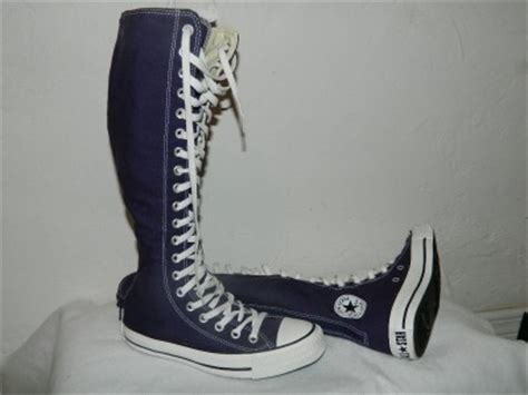 thigh high converse lace up sneakers new converse all chuck xx hi knee high