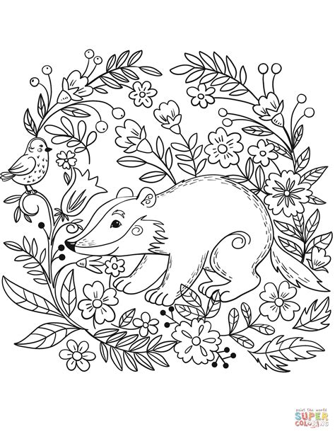 forest coloring pages forest animals coloring pages