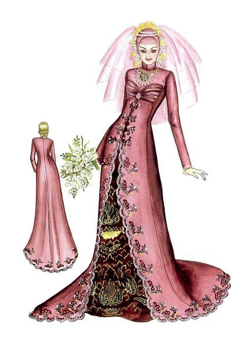 Bridal Dress Kebaya Pengantin Ekor Gown Wedding Prewed Prawed Modern yeni dwi sketsa gaun