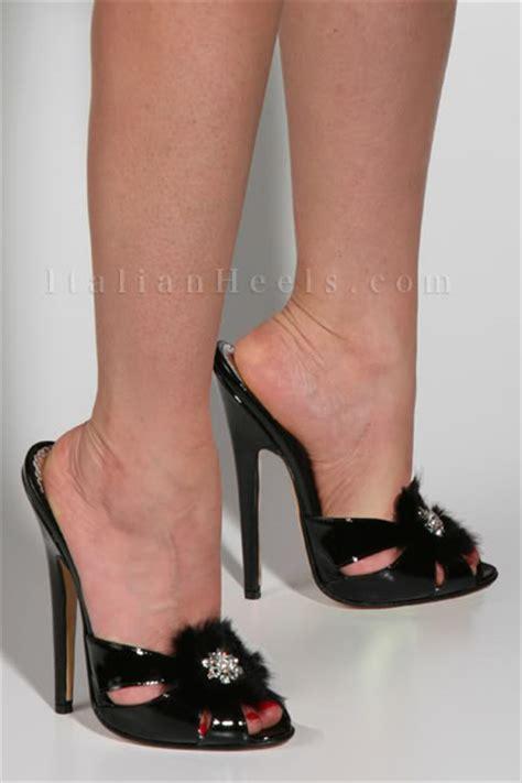 high heel mule slippers 2083 italianheels high heels 6 inch stiletto black