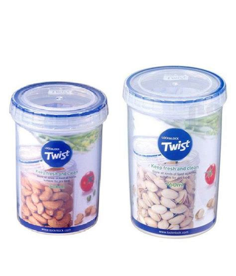 Lock N Lock lock n lock cap transparent food container set of 2