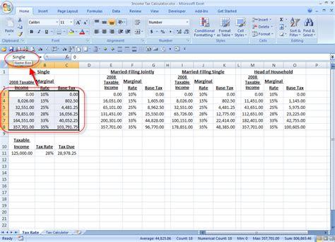 Calculator Spreadsheet by Tax Calculation Spreadsheet Buff