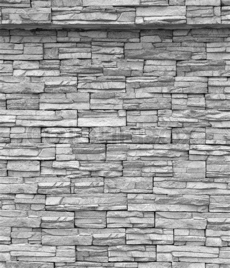decorative brick wall grey brick wall stock photo