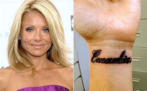 kelly ripa tattoo removed 35 well renowned tattoos on