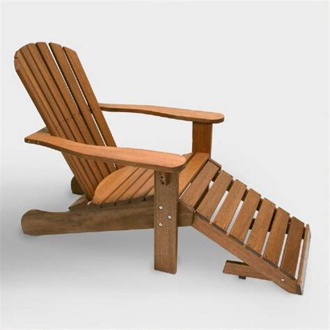 adirondack chair and ottoman wood adirondack chair with stow away ottoman market