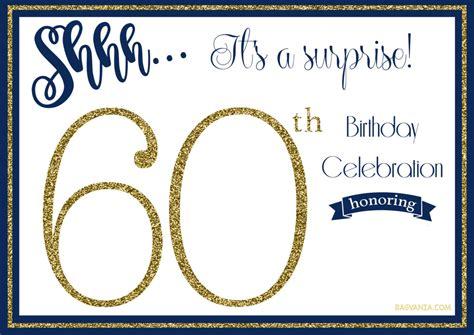 Free Printable Golden Surprise  Ee  Th Ee    Ee  Birthday Ee   Invitation