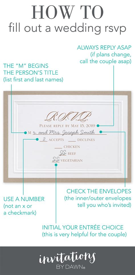 how to sign a wedding response card fill out a wedding rsvp invitations by