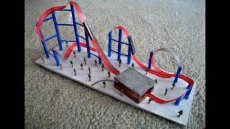 paper model of a roller coaster