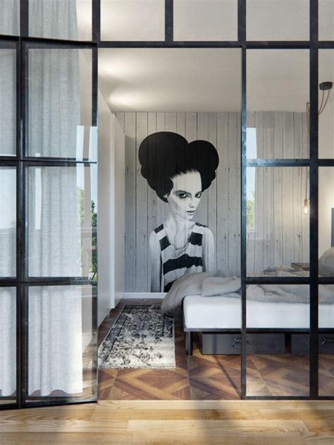 Attrayant Mur De Chambre En Bois #2: chambre-avec-verriere-mur-bois.jpg