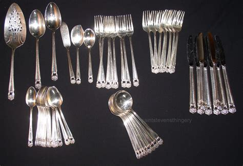 silverware rubber st 1847 rogers bros eternally yours silverplate flatware set