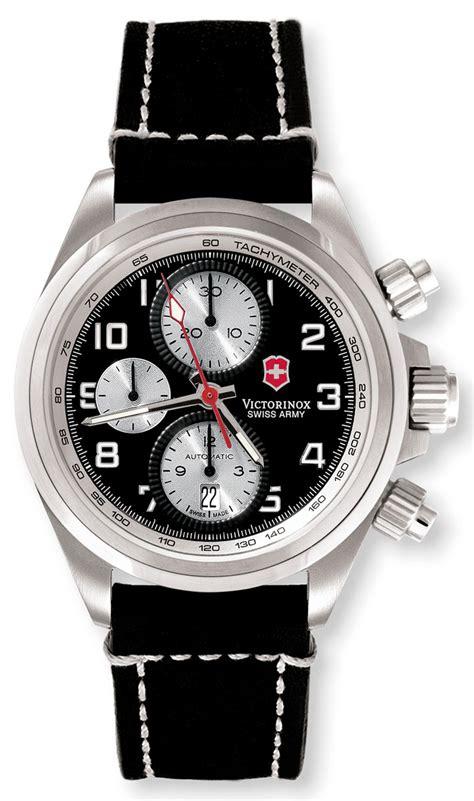 Swiss Army Sa4092 Chrono Mens Original Black swiss army chrono pro automatic chronograph stainless
