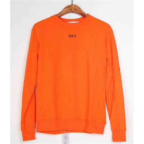 vlone white sleeve shirt orange