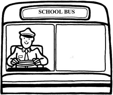 coloring page of school bus driver dedicated school bus driver coloring pages dedicated