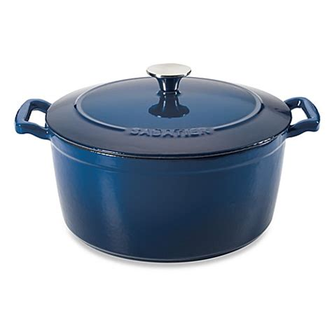 dutch oven bed bath and beyond buy sabatier 174 7 quart porcelain cast iron dutch oven in