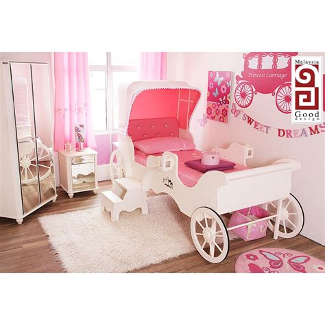 princess carriage bedroom set princess carriage bed 3 pieces bedroom set