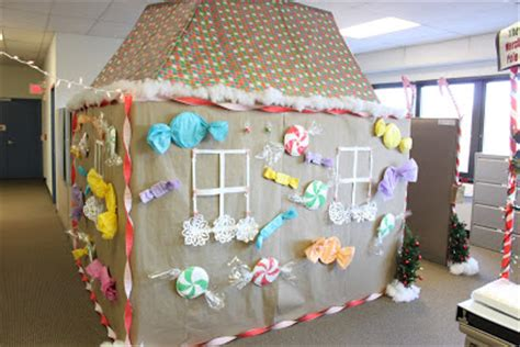 gingerbread house office cubicle decorations noted finestationery cheer at finestationery