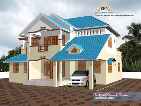home design 3d roof home elevation design in 3d kerala home design