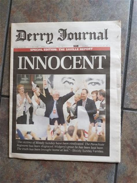 my bloody special edition special edition the derry journal saville report bloody